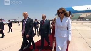 لحظات من زيارة ترامب الخارجية