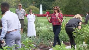 شاهد..ميلانيا ترامب تعتني بحديقة البيت الأبيض