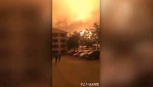 شاهد.. انفجار ضخم في غانا يضيء السماء ليلاً