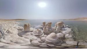 شاهد بتقنية 360 درجة.. البحر الميت يموت