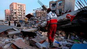 وصل إلى عمق 23 كيلومتراً.. شاهد لحظة زلزال العراق وإيران
