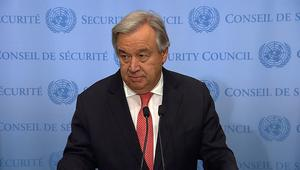 شاهد.. الأمين العام للأمم المتحدة: لا بديل لحل الدولتين