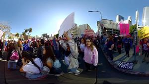 بتقنية 360 درجة.. قف بين متظاهرات بأمريكا لدعم حقوق المرأة