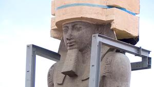 بوزن 83 طناً.. تمثال رمسيس الثاني يُنقل إلى المتحف المصري الكبير