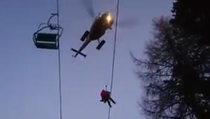 شاهد.. إنقاذ أكثر من 150 متزلجاً بعد تعطل مصعد هوائي في النمسا