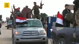 شاهد.. قوات موالية للنظام السوري قرب عفرين