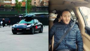 شاهد.. سيارة ذاتية القيادة يتحكم بها هاتف