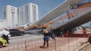 شاهد.. ارتفاع حصيلة القتلى بانهيار جسر في فلوريدا
