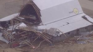 منزل دمر جراء إحدى العواصف التي اجتاحت أمريكا مطلع العام