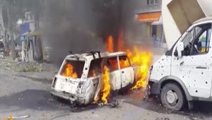 معارك طاحنة في شوارع دونيتسك بأوكرانيا