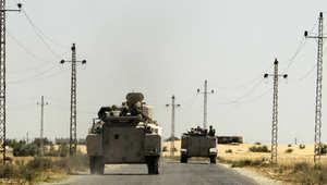 بعض القوات المصرية المتمركزة في سيناء