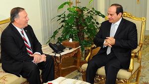 """السيسي يبحث الأزمة القطرية مع مدير CIA.. ويؤكد عزم مصر على """"الارتقاء"""" بالعلاقات مع أمريكا"""
