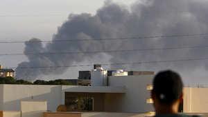 ليبيا: عشرات القتلى وحريق هائل بمعارك مطار طرابلس والبنك المركزي ينفي سرقة احتياط الذهب