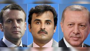 تميم وأردوغان وماكرون يبحثون أزمة قطر في اتصال مشترك