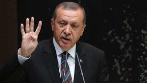 أردوغان يندد بمذكرة توقيف القرضاوي ويدافع عن تدريس اللغة العثمانية ويطلب دعم الجيش الحر بعملية برية