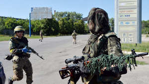 مقاتلون موالون لأوكرانيا
