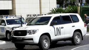 صورة ارشيفية لسيارات تابعة لمحققين الأمم المتحدة