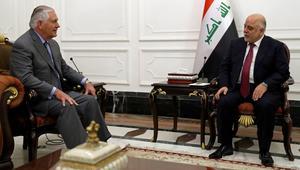 العبادي لريكس تيلرسون: الحشد الشعبي أمل العراق والمنطقة