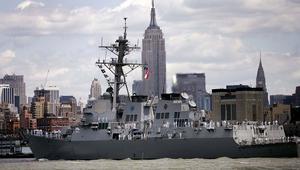 صاروخان من مناطق الحوثيين باتجاه سفينة حربية أمريكية