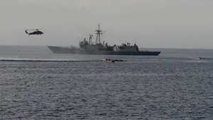 بالفيديو.. البحرية الأمريكية تنقذ 282 شخصا قبالة سواحل مالطا