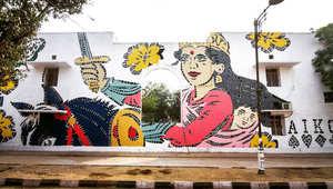 شوارع الهند تتحول إلى متاحف ومبانيها هي اللوحات... فما هي القصة؟