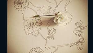 آخر صرعة..تزيين اللحى بالأزهار