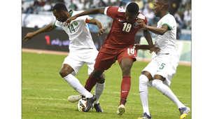 السعودية وقطر في كأس الخليج لكرة القدم