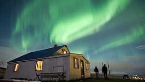 مشاهدة الشفق القطبي الشمالي