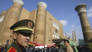 منظر عام لأحد شوارع مدينة يورومكي الصينية