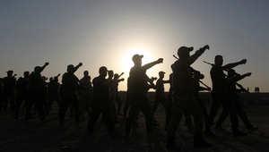 مجندون عراقيون يتلقون تدريبات