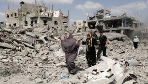 جانب من الدمار جراء القصف الإسرائيلي