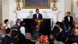جانب من حفل الإفطار الذي نظمه البيت الأبيض الاثنين