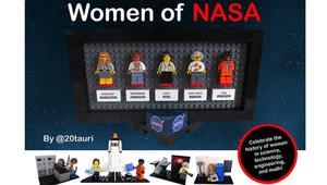 """رائدات مجال الفضاء في ناسا.. نجمات مجموعة """"ليغو"""" جديدة"""