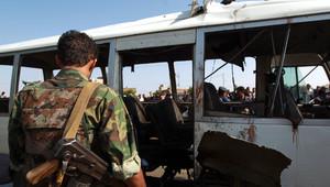 من انفجار استهدف حافلة عسكرية يمنية بأغسطس/آب الماضي
