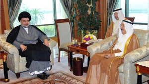 أمير الكويت خلال استقباله زعيم التيار الصدري مقتدى الصدر