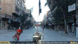 بالصور.. داعش ينشر لقطات لعناصره من داخل مخيم اليرموك دون 10 كيلومترات عن دمشق