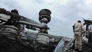 حطام الطائرة الماليزية التي سقطت في أوكرانيا