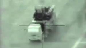 جيش إسرائيل ينشر فيديو تدمير بطارية للدفاع الجوي السوري