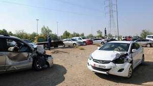 شاهد.. حوادث تصادم 96 مركبة في أبوظبي تسببت في إصابة 23 شخصا