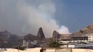 """اليمن.. مئات القتلى والجرحى في """"انفجارات غامضة"""" بمخزن """"جبل حديد"""" للأسلحة في عدن"""