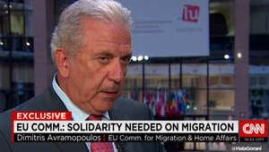 مفوض شؤون الهجرة بالاتحاد الأوروبي لـCNN: علينا إظهار المزيد من الوحدة وتحمل هؤلاء اليائسين ممن وصلوا لشواطئنا