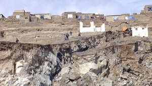 الصورة لانهيار أرضي سابق وقع في كابول في 16 مارس 2005
