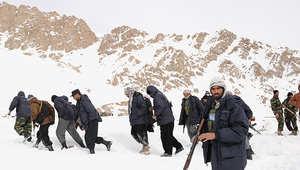من إحدى عمليات إنقاذ سابقة في أفغانستان وسط العواصف الثلجية
