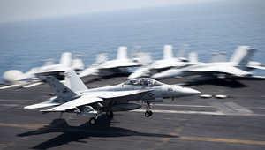 """مقاتلات أمريكية تشارك بالعمليات ضد """"داعش"""""""