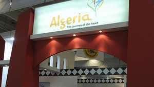 المنصة الخاصة بالجزائر في أحد المعارض السياحية