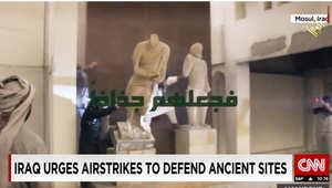 عناصر داعش تدمر قطع أثرية