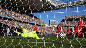 الأرجنتين للدور ربع النهائي على حساب سويسرا بصعوبة