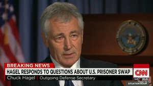 هاغل لـCNN: لا يمكن حل مشكلة داعش عسكريا فقط.. وقرار مبادلة معتقلي غوانتانامو بالجندي بيرغدال كان صحيحا