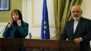 كاثرين أشتون خلال زيارة لإيران 9 مارس/ آذار 2014