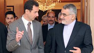 صورة وزعتها وكالة الأنباء السورية للقاء الأسد وبروجردي